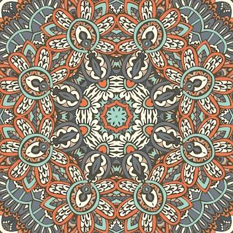 Papier peint géométrique ethnique