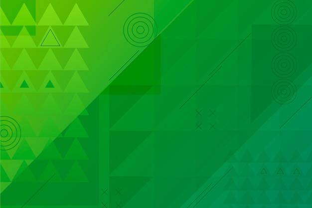 Papier peint géométrique vert