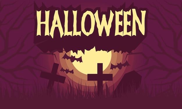 Papier peint halloween dessiné à la main