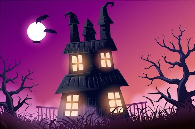 Papier Peint Halloween Réaliste Effrayant Vecteur gratuit