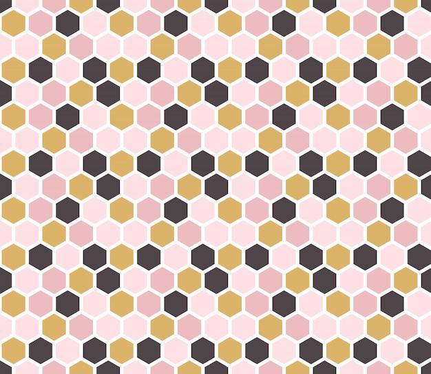 Papier peint hexagonal de vecteur.