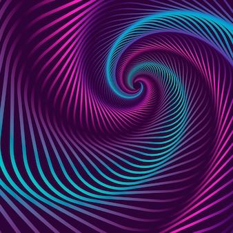Papier peint illusion d'optique psychédélique