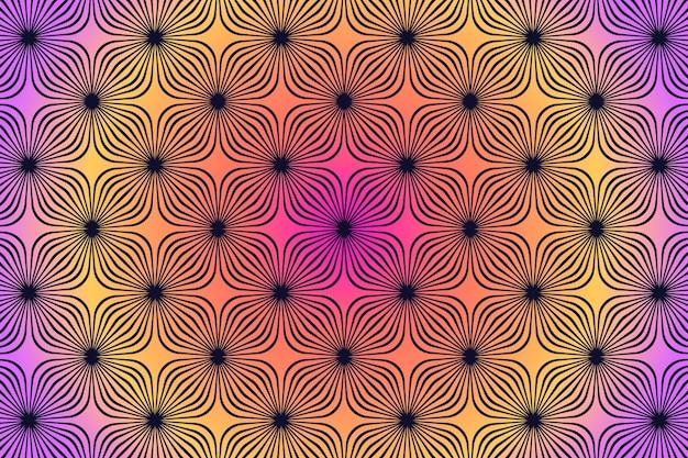 Papier peint illusion d'optique