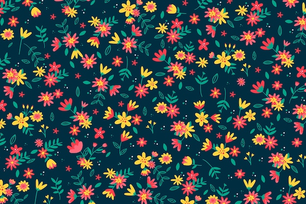 Papier peint imprimé floral coloré ditsy