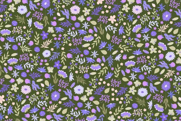 Papier peint imprimé floral coloré