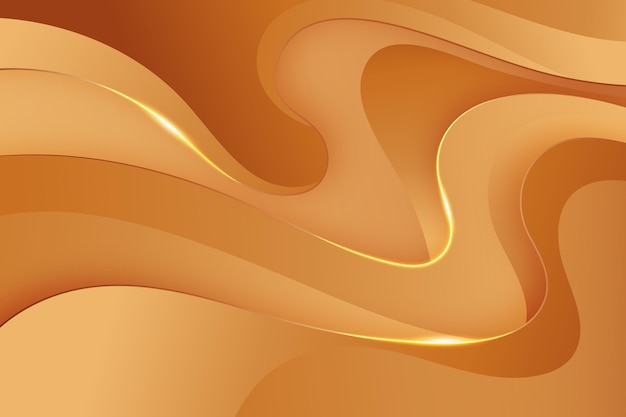Papier peint lisse vague d'or