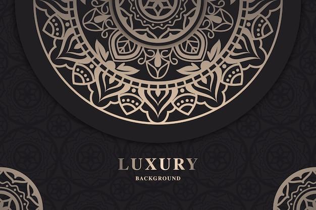 Papier peint mandala de luxe ornemental