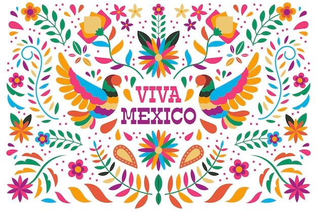 Papier peint mexicain coloré
