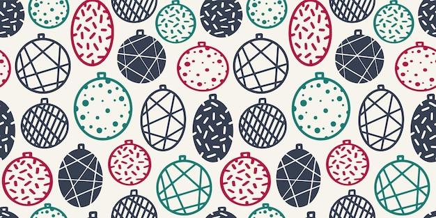 Papier peint de modèle sans couture avec des boules de noël pour la conception de décembre d'hiver de vacances de nouvel an