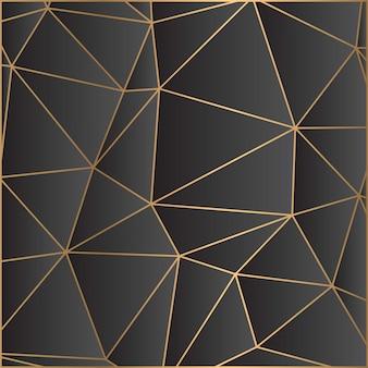 Papier peint mosaïque noir et or foncé