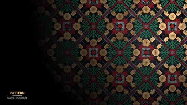 Papier peint avec motif mandala.