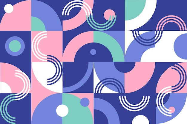 Papier peint mural géométrique aux formes abstraites