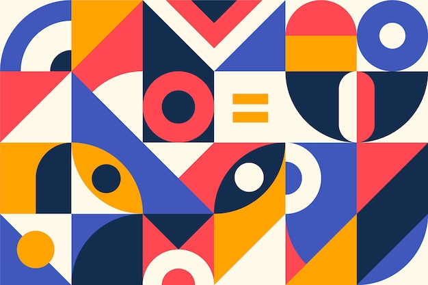 Papier peint mural géométrique