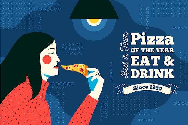 Papier peint mural de restaurant de pizza