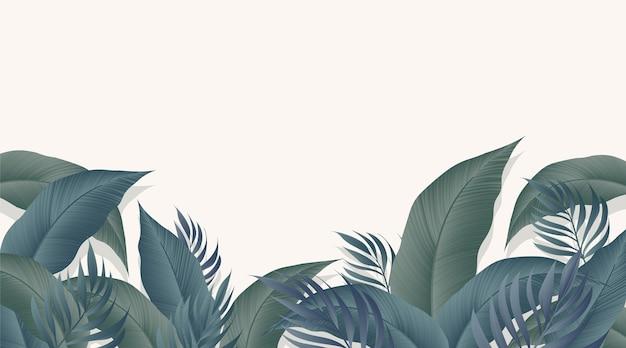 Papier peint mural tropical
