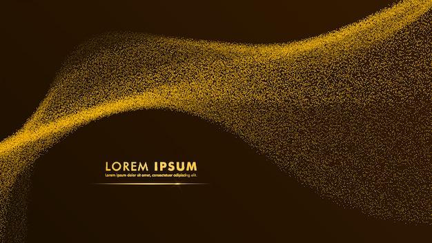 Papier peint paillettes d'or design or jaune doré