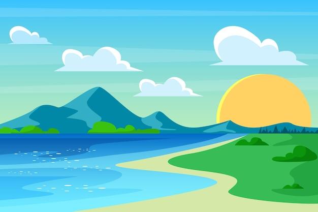 Papier peint avec paysage naturel