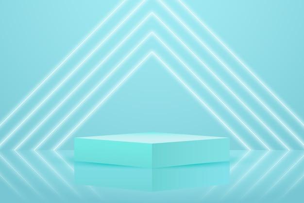 Papier peint podium avec des formes 3d géométriques