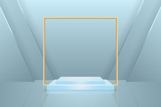 Papier Peint Podium Avec Des Formes Géométriques En 3d Vecteur Premium