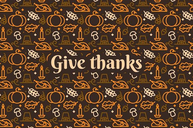 Papier peint pour le concept de jour de thanksgiving