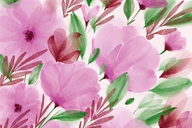 Papier peint printemps aquarelle