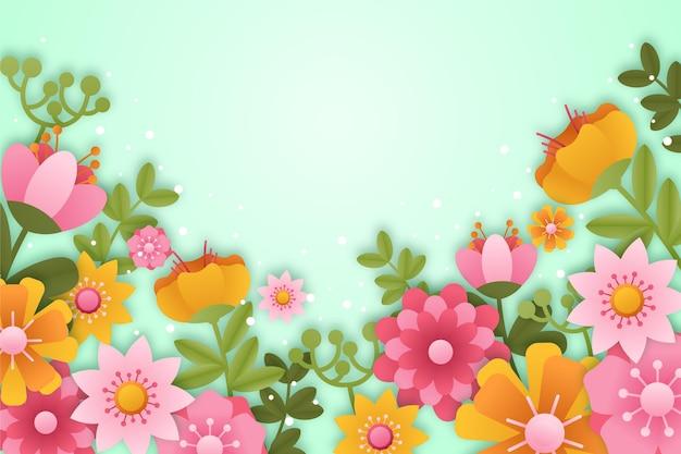 Papier peint de printemps réaliste en style papier