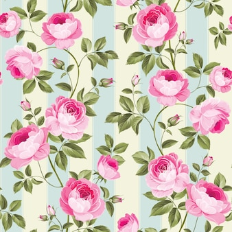 Papier peint rose luxueux.