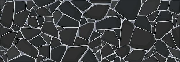 Papier peint texture de gravier noir