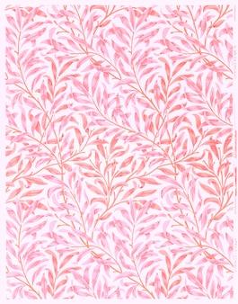 Papier peint willow design vintage, remix d'œuvres d'art originales de william morris