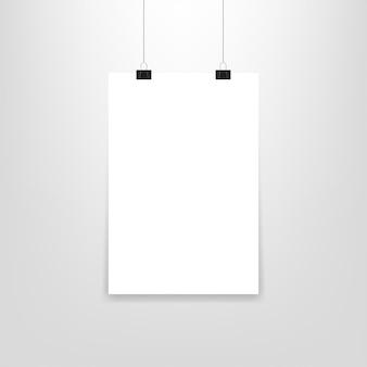 Papier pour affiche suspendu, dans un style de maquette