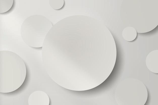 Papier rond blanc coupé avec fond d'ombre portée