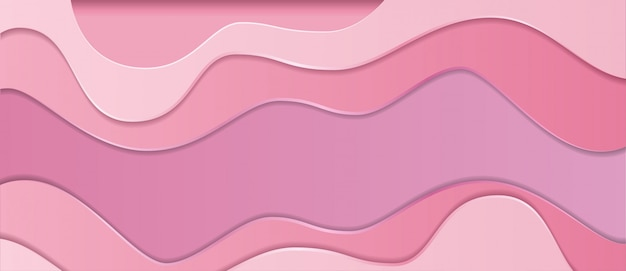 Papier rose réaliste abstrait coupé fond de slime