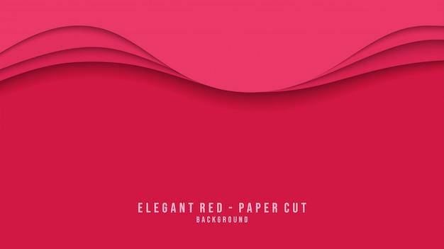 Papier rouge moderne coupé de fond