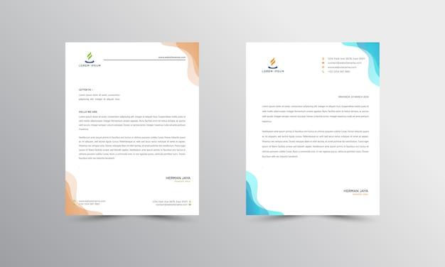 Papier à en-tête abtract design modern business headhead