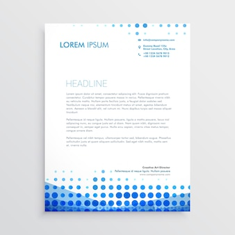 Papier à en-tête de business bleu créatif
