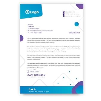 Papier à En-tête Commercial Marketing Vecteur gratuit