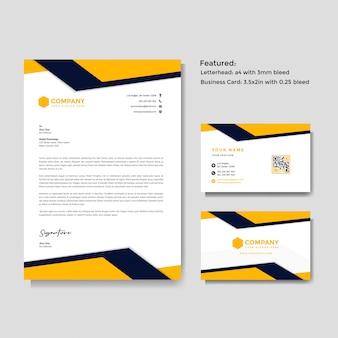 Papier à en-tête créatif professionnel et carte de visite