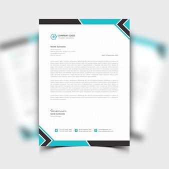 Papier à en-tête d'entreprise moderne avec un design professionnel