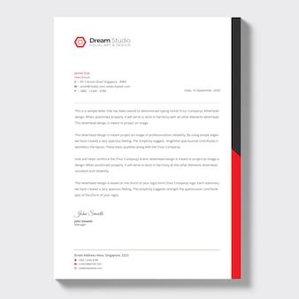 Papier à en-tête d'entreprise moderne, modèle de papier à en-tête