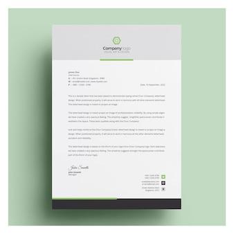 Papier à en-tête d'entreprise moderne