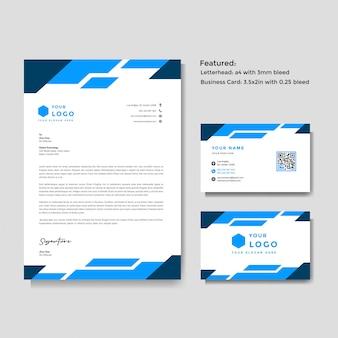 Papier à en-tête et modèle de carte de visite
