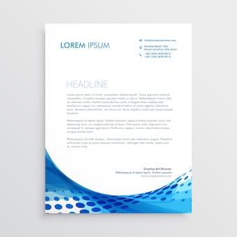 Papier à en-tête moderne abstrait bleu
