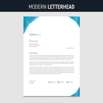 Papier à en-tête moderne