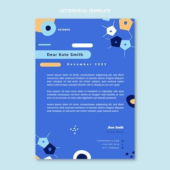 Papier à en-tête scientifique design plat