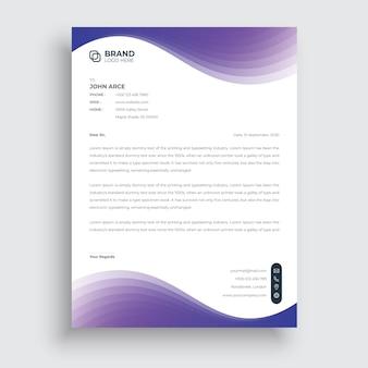 Papier à En-tête De Style D'entreprise Professionnel Moderne Conception Abstraite De Papier à En-tête Créatif Vecteur Premium