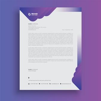 Papier à en-tête de style d'entreprise professionnel moderne conception abstraite de papier à en-tête créatif
