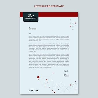 Papier à en-tête de technologie minimale design plat