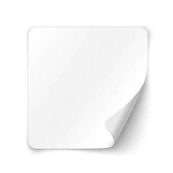 Papier vierge blanc.