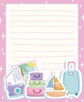 Papier de voyage avec accessoires
