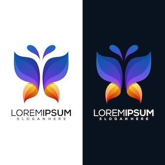 Papillon abstrait moderne avec deux versions